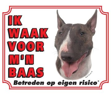 Stickerkoning Bull Terrier Wake board - Ich beobachte meinen Chef