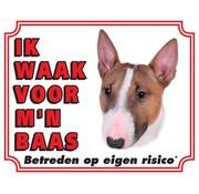 Stickerkoning Bull Terrier Wake board - I watch my boss