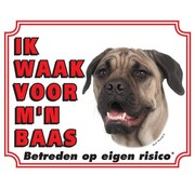 Stickerkoning Bullmastiff Watch Board - I watch my boss
