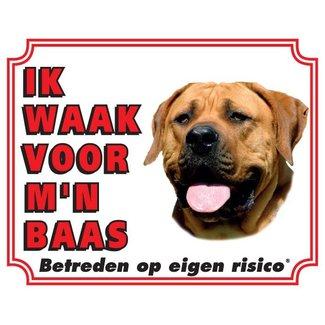 Stickerkoning Boerboel Wake board - I watch my boss