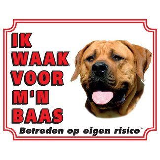 Stickerkoning Boerboel Wake board - Je regarde mon patron