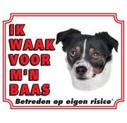 Stickerkoning Boerenfox Waakbord - Ik waak voor mijn baas