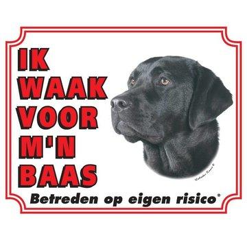 Stickerkoning Labrador Retriever Wake Board - Noir