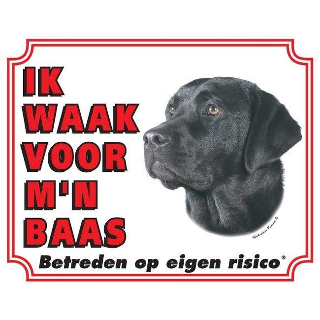 Stickerkoning Labrador Retriever Wake Board - Black