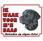 Labrador Retriever Waakbord - Zwart