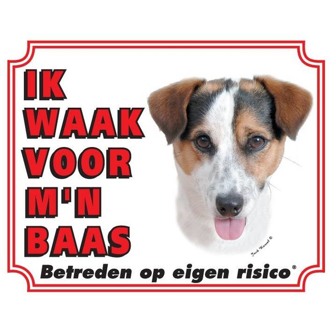 Stickerkoning Jack-Russell-Terrier-Uhr-Platte - glattes Haar