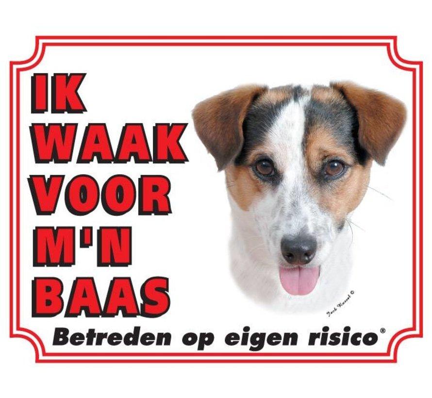 Jack Russell Terrier Waakbord - Gladhaar