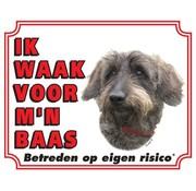 Stickerkoning Teckel Waakbord - Ruwhaar
