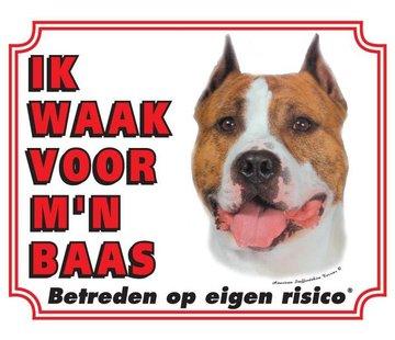 Stickerkoning Wake Board American Staffordshire Terrier