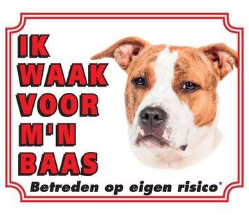 Stickerkoning American Staffordshire Terrier Waakbord