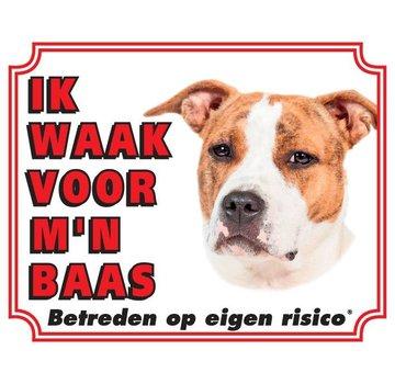 Stickerkoning American Staffordshire Terrier Wake Board