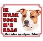 American Staffordshire Terrier Waakbord