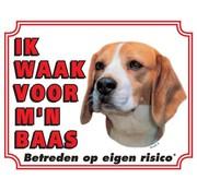 Stickerkoning Beagle Watch Board - I watch my boss