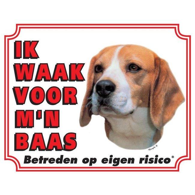 Stickerkoning Beagle-Uhr-Board - Ich beobachte meinen Chef