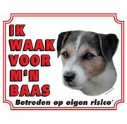 Stickerkoning Jack Russell Terrier Waakbord - Ruwhaar
