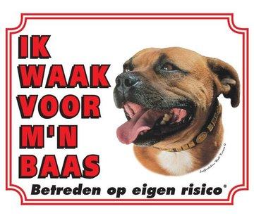 Stickerkoning Staffordshire Bull Terrier Wake board - ich bei der