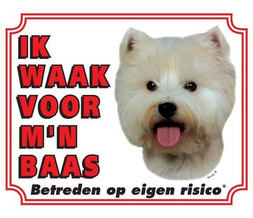 Stickerkoning West Highland White Terrier Waakbord