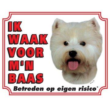 Stickerkoning West Higland White Terrier Waakbord