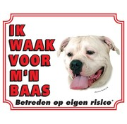 Stickerkoning American Bulldog Wake board - Ich beobachte mein Chef