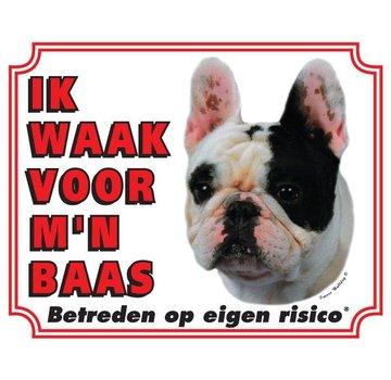 Stickerkoning French Bulldog Wake board - I watch my boss