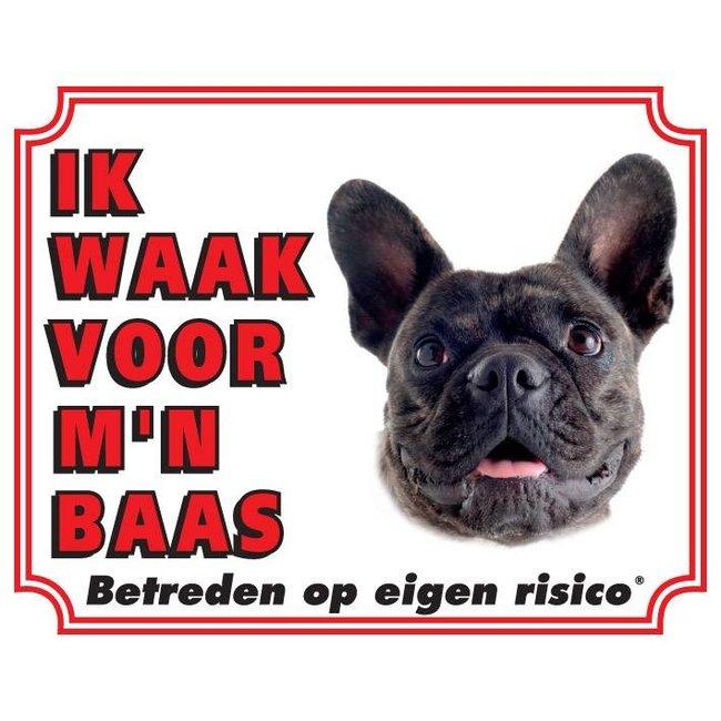 Stickerkoning Französisch Bulldog Wake board - Ich beobachte meinen Chef