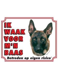 Stickerkoning Mechelaar Waakbord - Ik waak voor mijn baas