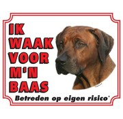 Stickerkoning Rhodesian Ridgeback Wake board - I watch my