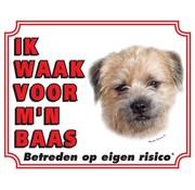 Stickerkoning Border Terrier Wake board - I watch my boss