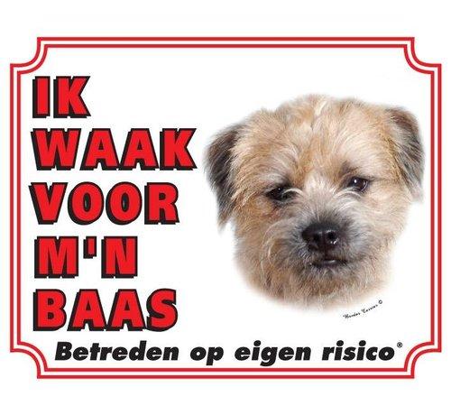 Stickerkoning Wake board Border Terrier - Je regarde mon patron
