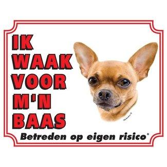 Stickerkoning Chihuahua Wake Board - Shorthair I watch my