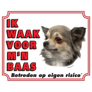 Stickerkoning Chihuahua Wake Board - Long Hair I watch my