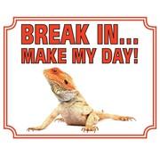 Stickerkoning Bearded dragon Wake Board - Break in Make my Day