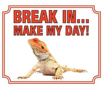 Stickerkoning Baardagaam Waakbord - Break in Make my Day