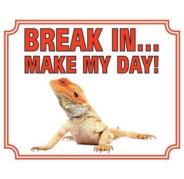 Stickerkoning Bearded dragon Wake Board - Break in Make my Day