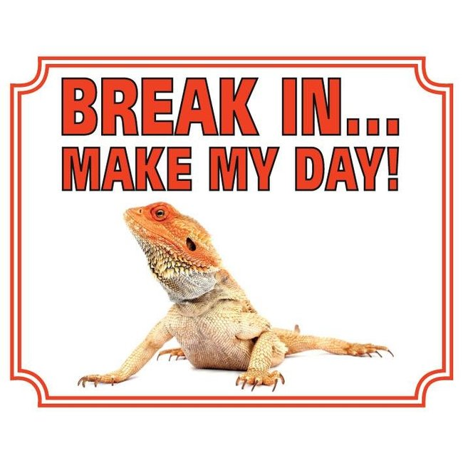 Baardagaam Waakbord - Break in Make my Day