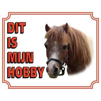 Stickerkoning Pony-Uhr-Panel - Das ist mein Hobby