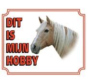 Stickerkoning Paarden Waakbord - Dit is mijn hobby Licht Bruin