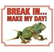 Stickerkoning Iguana Wake Board - Break in make my Day