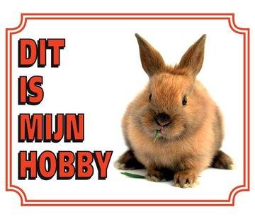 Stickerkoning Kaninchen-Uhr-Panel - Das ist mein Hobby