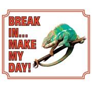 Stickerkoning Kameleon Waakbord - Break in make my day