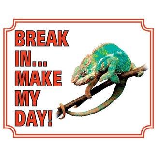Stickerkoning Chameleon Watch Board - Break in make my day