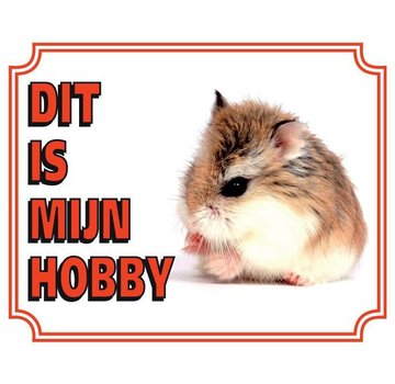 Stickerkoning Hamster Montre Panel - Ceci est mon passe-temps