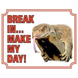 Stickerkoning Lizard Watch Board - Break in make my day