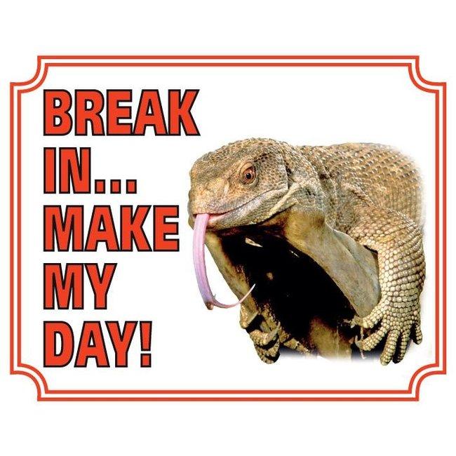Stickerkoning Lizard-Uhr-Board - Pause in meinen Tag machen