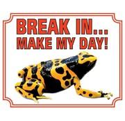 Stickerkoning Gifkikker Wake Board - Break in make my day