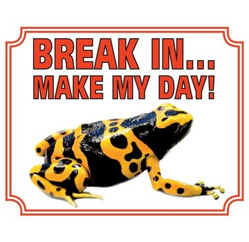 Stickerkoning Gifkikker Waakbord - Break in make my day