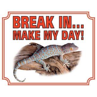 Stickerkoning Gekko Wake Board - Break in make my day