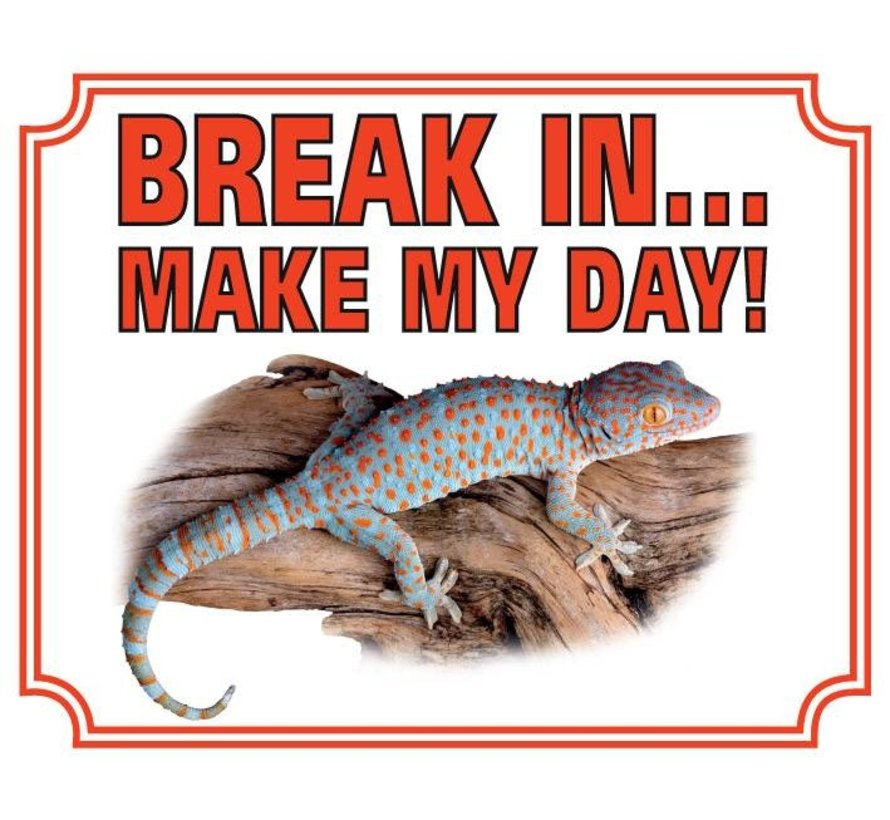 Gekko Waakbord - Break in make my day