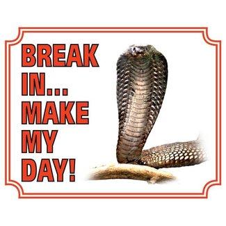 Stickerkoning Cobra Watch Board - Break in make my day