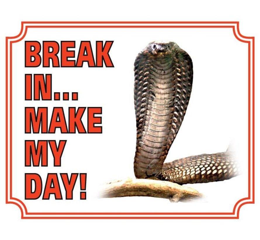 Cobra Waakbord - Break in make my day